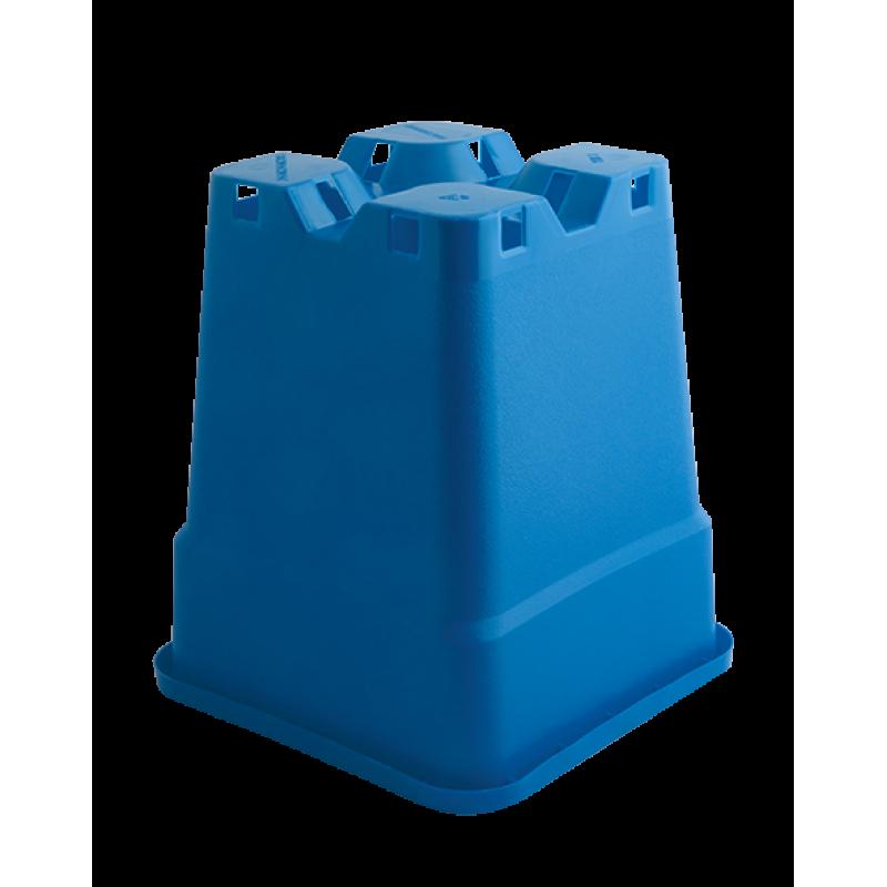 Plantcontainer 24x24x28,3 cm. 11 Liter blauw