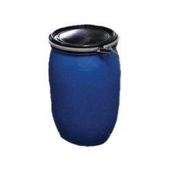 Water Barrel round 200 litre blue